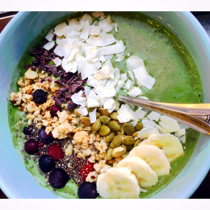 spring ready smoothie bowl