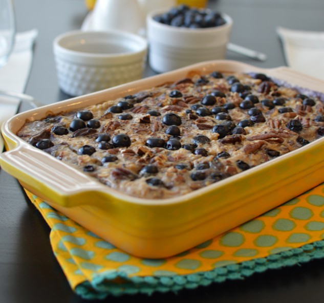a hearty and yummy combination of oats and blueberries