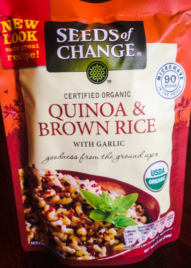 90 seconds to a healthy side dish, and available at your local wholesale club!