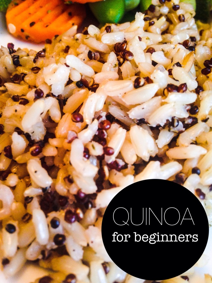 in 90 seconds you have a healthy mix of rice & quinoa- perfect for eating healthy when feeling lazy!