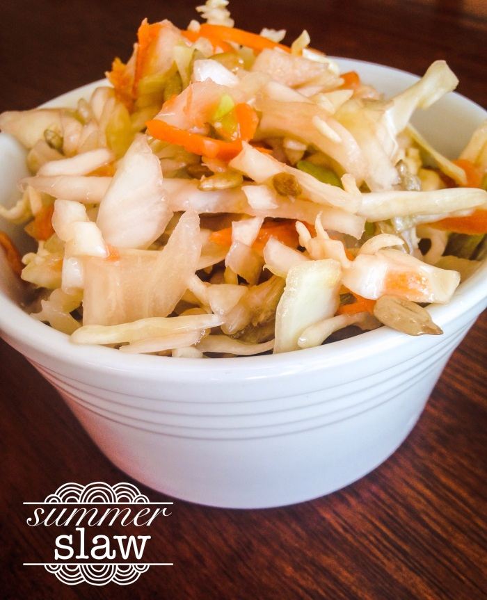light and sweet, this slaw satisfies the masses!