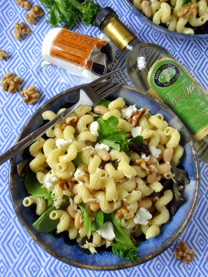 Panty staples like pasta, beans & tuna come together for a tasty dinner