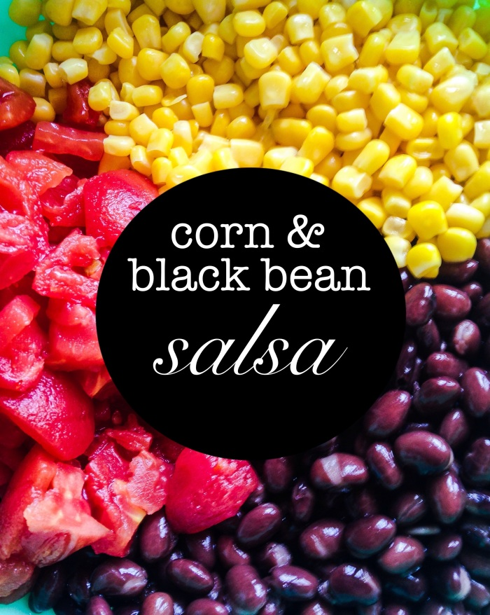 combine canned corn, tomato, and beans in a strainer and rinse