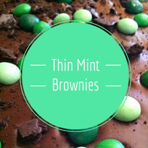 mint candies and brownie mix together to make this delicious treat