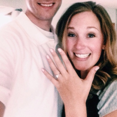 Moments after walking in the door from work last Tuesday, he popped the question! [my hubby-to-be enjoys his privacy]