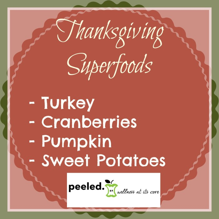 thanksgiving super foods